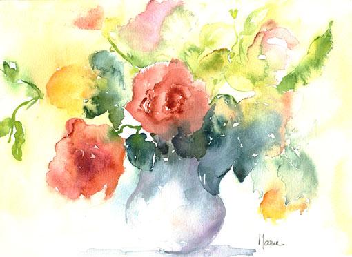 Galerie fleurs aquarelle 1 for Aquarelle fleurs